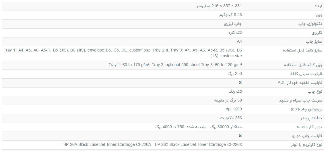پرینتر-لیزری-تک-کاره3-اچ-پی-مدل-66LaserJet-Pro-M402dne